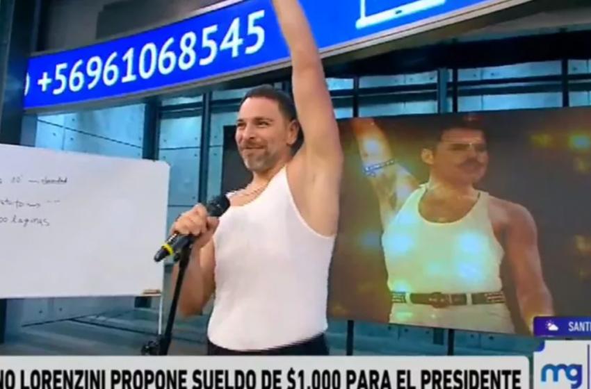 José Antonio Neme sorprendió con jugada imitación de Freddie Mercury en Mucho Gusto